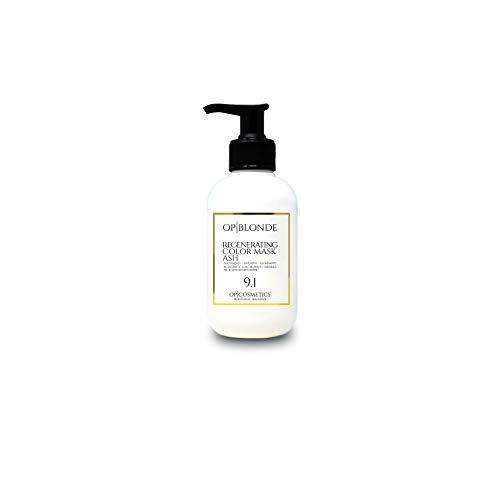OP|BLONDE REGENERATING COLOR MASK ASH 9.1, 250 ml maschera per capelli ravviva colore trattamento professionale illuminante ideale per colore capelli biondo cenere per capelli tinti o naturali