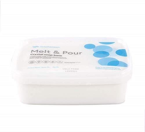 Mystic Moments - Base per sapone da sciogliere e versare senza SLS, 1 kg, colore: Trasparente