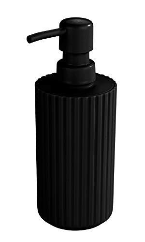 Allstar 23030100 - Dispenser per sapone liquido, capacità 0,28 l, 7 x 18 x 7 cm, colore: Nero