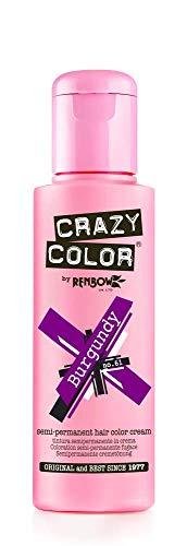 Crazy Color Crema Colorante Vegetale per Capelli , Burgundy - 100 ml