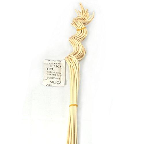 Ougual 20 Pezzi Rattan Naturale diffusore di fragranza Sostitutiva Reed Ricarica Bastoncini ondulati a Spirale (Colore Naturale, 3mm * 32cm a Forma di Ondulato)