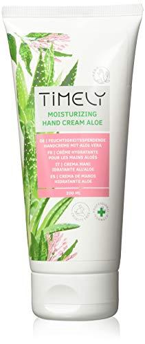Timely, crema mani idratante e rigenerante con aloe, 200 ml