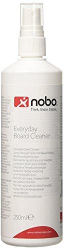 Nobo Detergente Spray per Lavagna Bianca, 250 ml, Per Superfici Cancellabili a Secco, 1901435