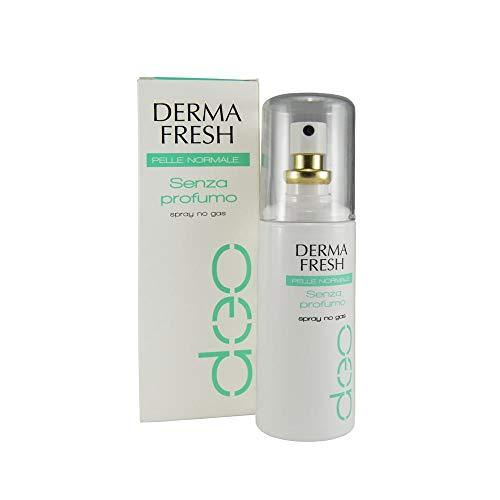 Dermafresh Pelle Normale senza Profumo Deodorante Spray Privo di Profumazione e No Gas - 100 ml
