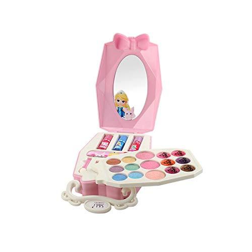 YUY Scatola Portatile per La Bellezza delle Fiabe Giocattolo per Il Trucco per Ragazze Kit per Il Trucco Lavabile per Veri Bambini Set per Il Trucco Make Up Play House Toys