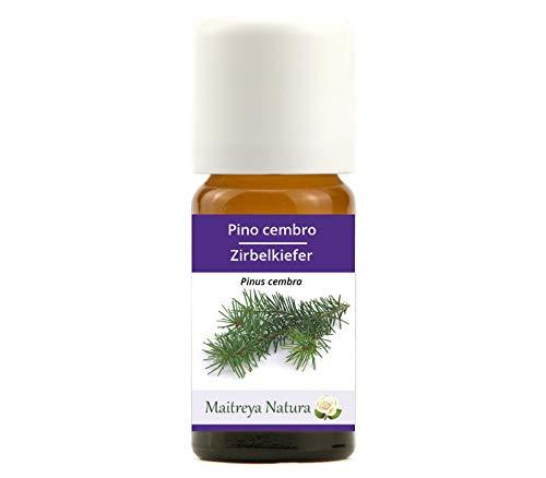 Maitreya Natura Olio Essenziale biologico PINO CEMBRO 100% puro e naturale, 10ml - aromaterapia, diffusore, massaggio, cosmetica - qualità controllata e certificata, vegan