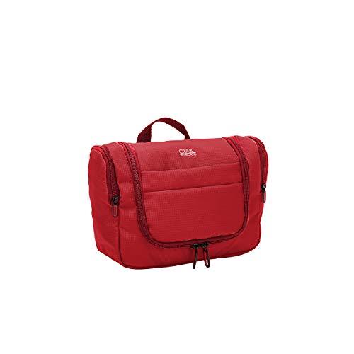 Ciak Roncato Beauty da Viaggio Collezione Smart Tote Bag Necessaire 32 cm in Tessuto Jacquard Rosso