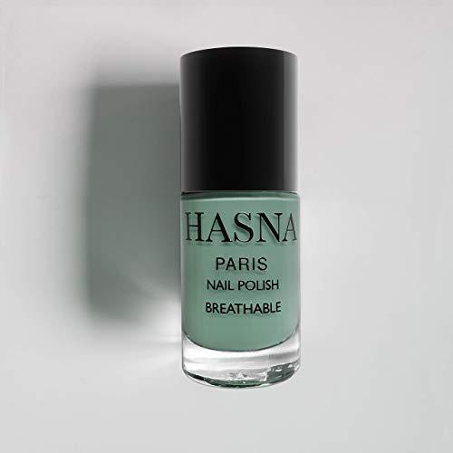 Smalto per unghie Traspirante Smalto per unghie Halal certificato - Permeabile all'acqua e all'aria | Menta, 6 ml