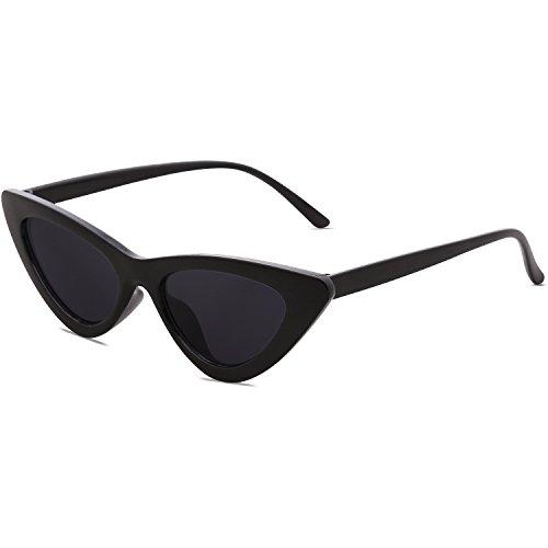 SOJOS Occhiali di Protezione Occhiali da Sole da Donna Occhio di Gatto Retro Vintage Stile SJ2044 con Nero Telaio/Grigio Lente