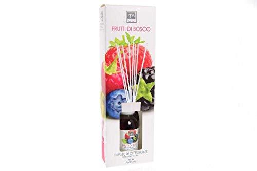 GIRM® - ME16545 Diffusore d'Essenza con Bastoncini in Cotone Aroma Frutti di Bosco ml 125