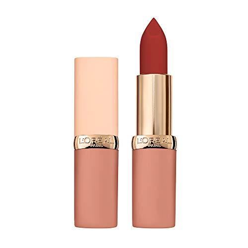 L'Oréal Paris Rossetto Lunga Durata Color Riche Free the Nudes, Non Secca le Labbra, Comfort a Lungo sulle Labbra, 04 No Cage, Confezione da 1