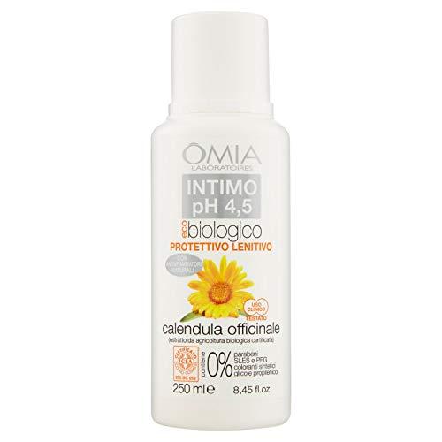 Omia Sapone Intimo Eco Bio Ph 4.5 Calendula Officinale, Detergente Intimo, 250 ml