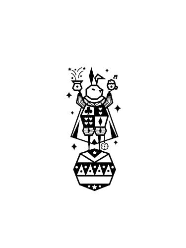 JZLMF Magic Rabbit - Adesivo per tatuaggio autunnale, impermeabile, motivo femminile