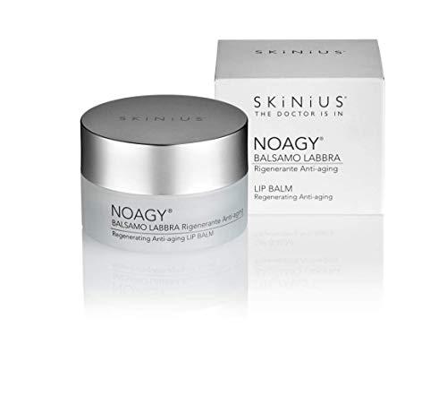 Skinius - NOAGY Balsamo Labbra, Nutriente e Rigenerante, Protegge le Labbra e il Contorno Labbra Migliorandone l'Elasticità, 15 ml