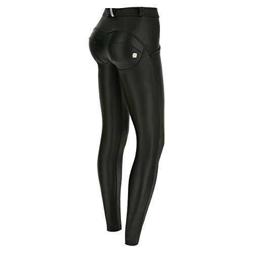 FREDDY Pantalone WR.UP® Skinny Vita e Lunghezza Regular Eco-Pelle - Black - XXS