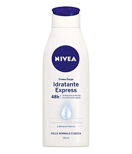 Nivea Crema Corpo Idratante Express 48h Idratazione Profonda, Pelle Normale o Secca