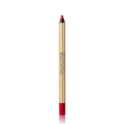 Max Factor Matita Labbra Lunga Durata Colour Elixir Lip Liner, 012 Red Blush, 1.2 g