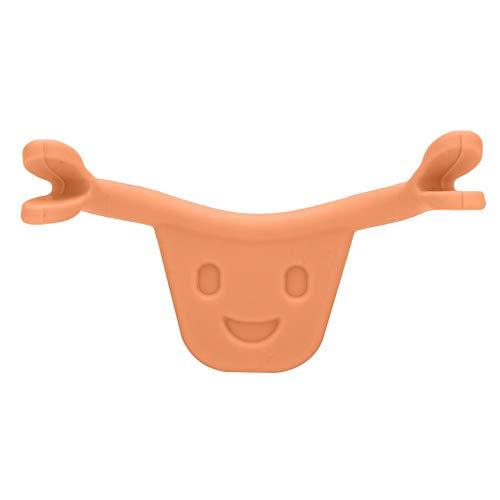 Smile Corrector, Face Trainer Sorriso Facciale Beauty Maker Trainer Forming Mouth Exerciser Training Dispositivo per Esercizi a Forma di Bocca per Tatuaggio Labbra(arancia)
