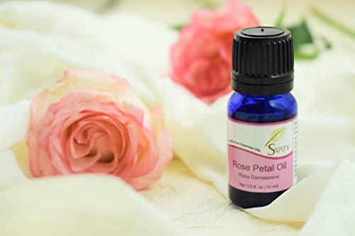 Olio essenziale SVATV Rose Petal (Rosa Damascena) 10 ml (1/3 oz) 100% puro, non diluito, grado terapeutico