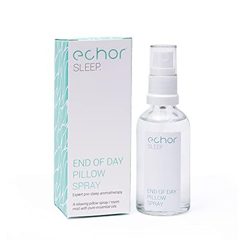 Echor Spray per Dormire Bene, Aromaterapia Spray per ambienti/spray per cuscini di lunga durata, Fragranza Naturale con Olio Essenziale di Lavanda per Conciliare Sonno, 50 ml