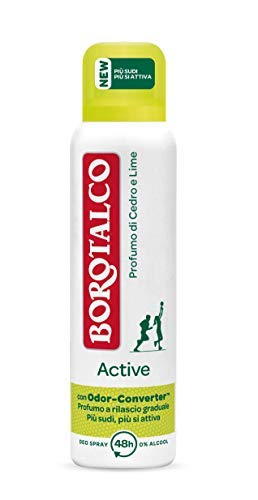 Borotalco Deodorante Spray Active, Giallo, 150 ml, 1 Pezzo