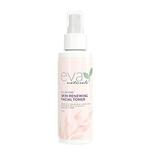 Tonico viso rigenerante per la pelle tutto in uno di Eva Naturals (113 gr) - Con vitamina C, lavanda e propoli