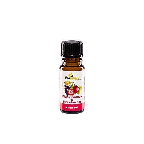 Nero Uva & Fragole Aromaterapia Diffusore Olio Essenziale 10ml Biopurus