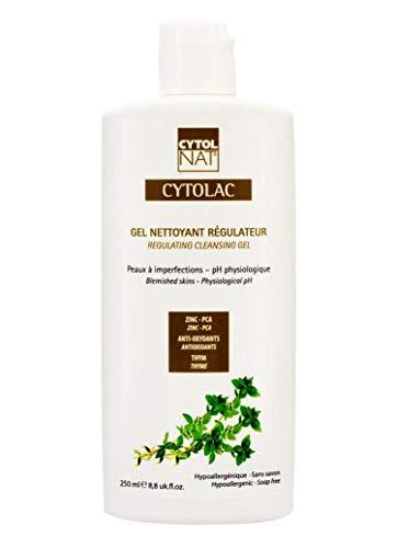 CYTOLAC® Gel Detergente Regolatore Viso e Dose 250 ml – Riduce visibilmente le imperfezioni: brufoli, punti neri, segni di acne - ipoallergenico, senza sapone, pH fisiologico
