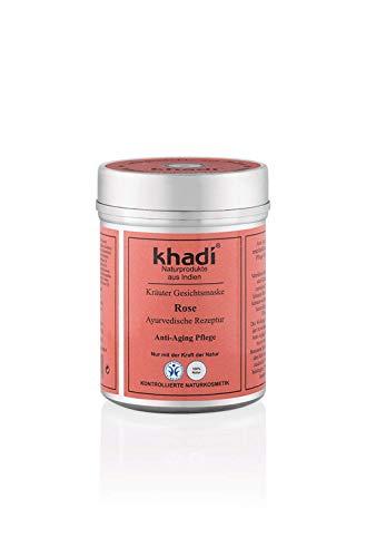 Khadi Anti invecchiamento Maschera viso con Petali di rosa