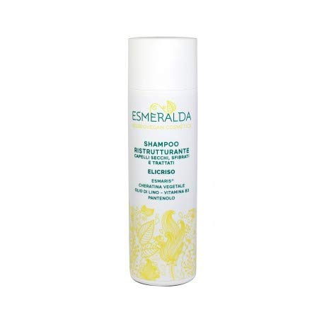 ESMERALDA COSMETICS - Shampoo Ristrutturante - Per Capelli Secchi, sfibrati e trattati - Testato Nichel, Cromo e Cobalto - Non testato sugli animali - Senza glutine - 200 ml