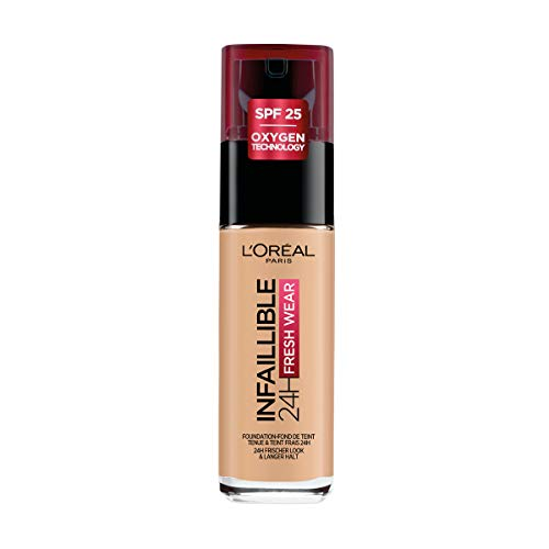 L'Oréal Paris Infaillible Fondotinta Liquido Coprente Lunga Tenuta 24H, 200 Sable Doré