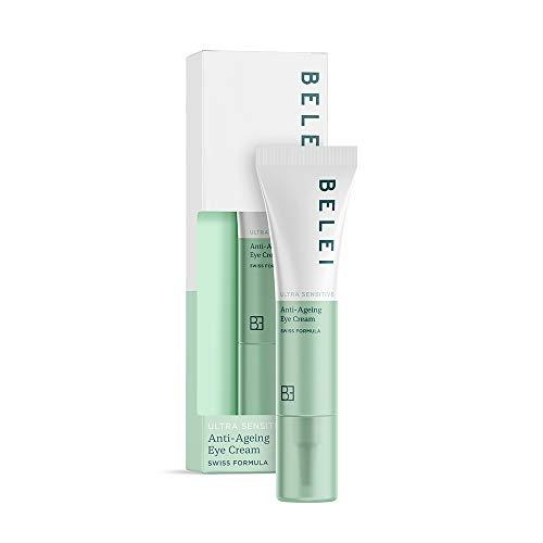 Marchio Amazon - Belei, Crema contorno occhi anti-age, per pelle ultra sensibile, 15 ml