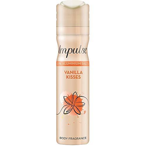 Vanilla Baci 3 x Impulse Deodorante Spray, ogni 75ml / Deodorante / Spray Corpo