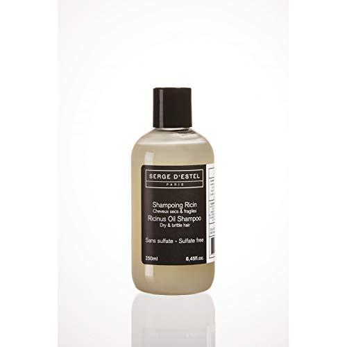 Shampoo Ricino Senza Solfati 250ml Shampoo per Capelli Molto Secchi Fragili o Crespi Shampoo Naturale con Olii Essenziali Non Testado en su Animales Fatto en Francia