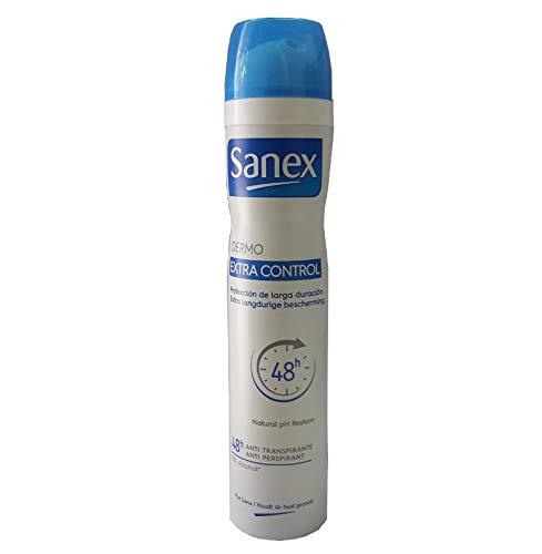 """Sanex - Deodorante da donna """"Dermo Extra Control"""" per pelli normali, 6 pezzi da 200 ml"""