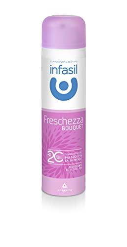 Infasil Deodorante Spray Freschezza Bouquet con Molecola 2C, Betaciclodestrina, Senza Alcol, Efficace Fino a 24h, Profumo Floreale, 150 ml