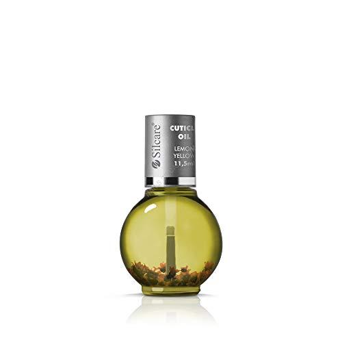 Silcare - Olio per cuticole per manicure/pedicure fragranza Limone con fiori - Per unghie normali o deboli, rimpolpa l'unghia e crea lucentezza - Olio naturale con fiori Lemon Yellow 11,5 ml
