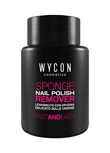 WYCON cosmetics SPONGE NAIL POLISH REMOVER pratico solvente ad immersione