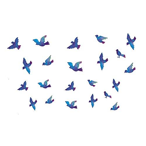 5 fogli impermeabili di lunga durata per uccelli rondine coppia clavicola adesivi tatuaggio sexy per uomini e donne