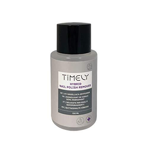 Timely, solvente per unghie per smalti ibridi al profumo di mango, 150 ml