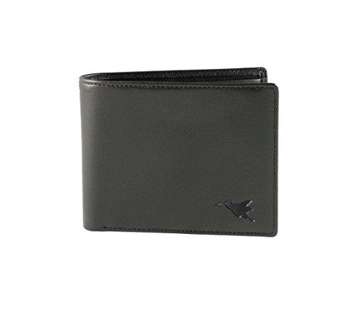 Portafoglio ripiegabile per 2 monete di Nomalite | Portafoglio con tecnologia blocca RFID, con 4 fessure per le carte di credito, SIM/MicroSD card e 2 scomparti per monete e banconote. Pelle vegan.