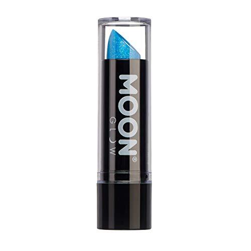 Moon Glow - 5gr Rossetto Neon UV Glitter - Blu - Si illumina intensamente sotto illuminazione UV
