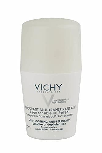 Deodorante Sensitiv antitraspirante 48H di Vichy, Deodorante Unisex - Roll on 50 ml