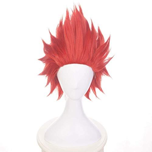 Ani·Lnc Parrucca sintetica rossa sintetica parrucca cosplay per cosplayer