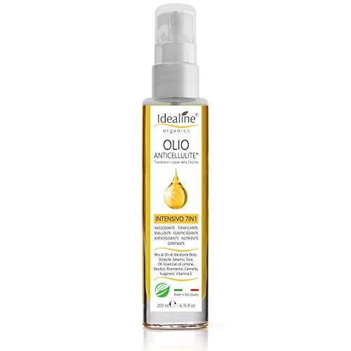 Olio Anticellulite Professionale BIO Cellulite e Smagliature MAXI FORMATO Spray Intensivo Rassodante Corpo Oli Essenziali 100% Naturali 200ml Idealine