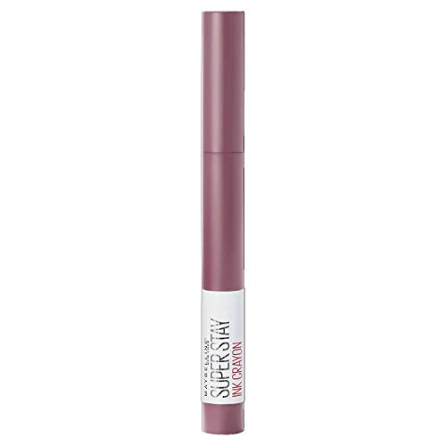 Maybelline New York Rossetto Matita SuperStay Ink Crayon Colore Matte a Lunga Tenuta, 25 Stay Exceptional