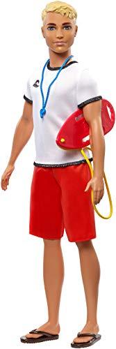 Barbie Ken Bagnino, Bambola con Accessori Giocattolo per Bambini 3+ Anni, FXP04
