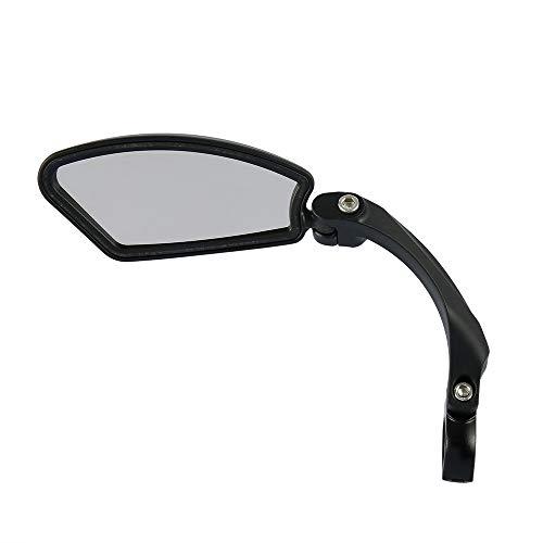 Specchietti Bici Ruotato di 360 ° Universale Specchio Retrovisore per Biciclette Scooter Mountain Bike MTB per Manubrio Diametro 22 mm (Sinistra)