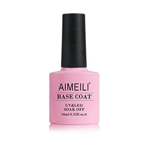 AIMEILI Base Coat Semipermente Smalto Semipermente Smalti per Unghie per Manicure in Gel UV LED Soak Off 10ml