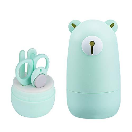 Mostop Baby Nail Clippers Kit Manicure Set 4 in 1 Grooming Tools Kit Pedicure Baby Nail Clippers, Forbici, Lima per Unghie e Pinzette per Neonati Toddler Kids